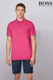 BOSS Pink Paul Curved Poloshirt