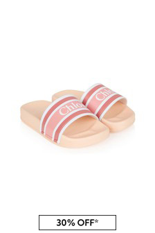 Chloe Kids Girls Orange Sliders