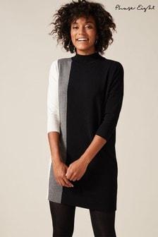 Phase Eight Grey Charlotte Colourblock Dress