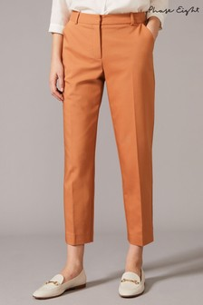 Phase Eight Brown Bronwyn Belted Tapered Trousers