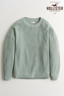 Hollister Grey Core Knit Crew Neck Jumper