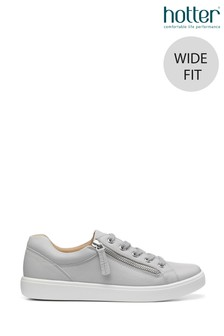 Hotter Chase Wide Fit Lace Up/Zip Deck Shoes