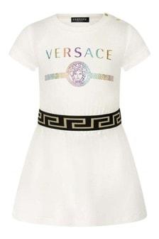 Baby Girls Ivory Cotton Jersey Dress