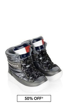 Tommy Hilfiger Girls Silver Snow Boots