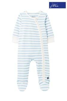 Joules Zippy Babystrampler mit Streifen, Weiß