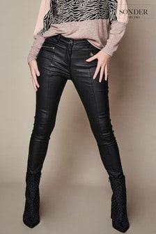 Sonder Studio Black Coated Jeans