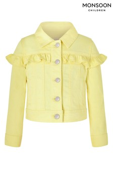 Monsoon Yellow Layla Denim Jacket