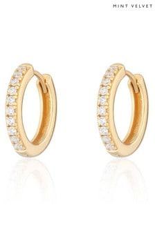 Mint Velvet Gold Tone Large Huggie Earrings