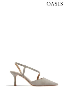 Oasis Grey Bridesmaids Pointed Slingbacks