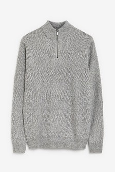 Twist Zip Neck Jumper
