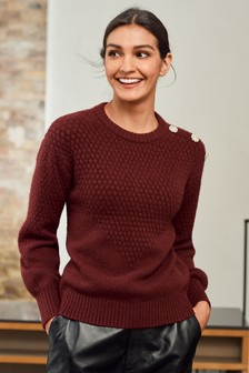 Gem Button Shoulder Jumper