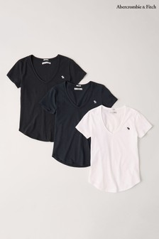 Abercrombie & Fitch 3 Pack V-Neck T-Shirt