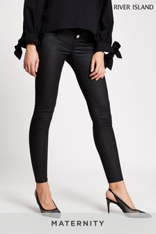 River Island Black Molly Maternity Joyride Overbump Jeans