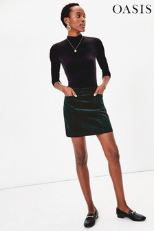 Oasis Green Cord Mini Skirt