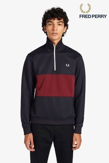 Fred Perry Colourblock Half Zip Track Jacket