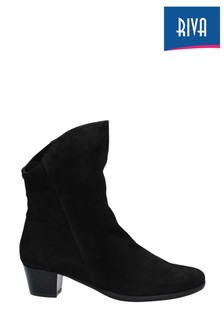 Riva Black Armadillo Slip-On Boots