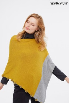 White Stuff Yellow Penelope Colourblock Poncho