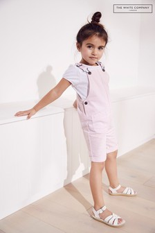 The White Company Pink Dungaree Shorts & Top Set