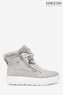 Geox Womens Kaula Grey Sneakers