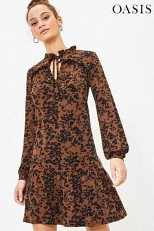 Oasis Natural Leopard Skater Dress