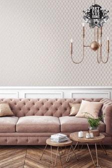 Art For The Home Grey Superfresco Easy Myrtle Geo Grey Wallpaper