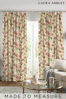 Laura Ashley Gosford Cranberry Made to Measure Curtains