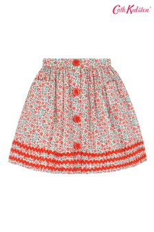 Cath Kidston® Cream Ashbourne Ditsy Button Down Skirt