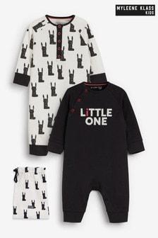 Myleene Klass Baby GOTS Organic 2 Pack Sleepsuits