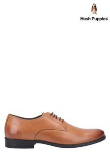 Hush Puppies Brown Oscar Clean Toe Lace-Up Shoes