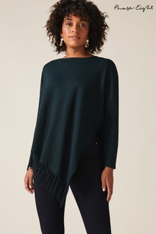Phase Eight Green Athena Tassle Knit Jumper