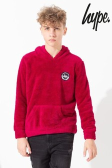 Hype. Red Kids Pullover Sherpa Hoody