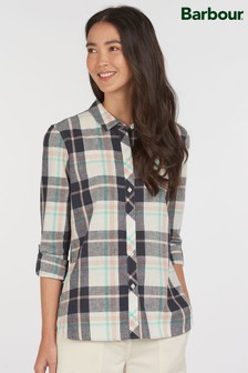 Barbour® Coastal Navy Linen Mix Seaglow Check Shirt