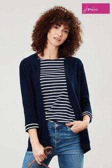 Joules Blue Rana Internal Stripe Milano Knit Cardigan