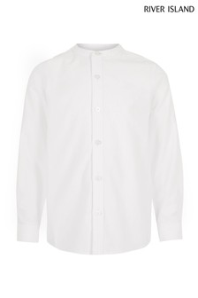 River Island White Grandad Shirt