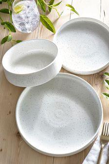 12 Piece Cream Hayden Dinner Set