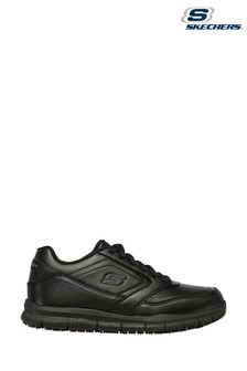 Skechers® Black Nampa Wyola Slip Resistant Trainers