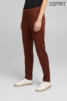 Esprit Womens Woven Brown Chino Pants