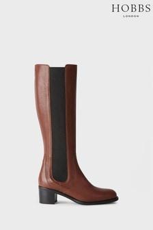 Hobbs Tan Emma Knee Boots