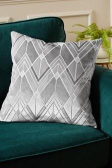 Collection Luxe Deco Geo Cut Velvet Cushion