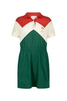 GUCCI Kids Girls Green Pique Dress