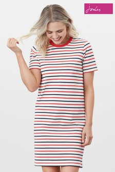 Joules Red Liberty A-Line Jersey Dress