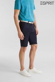 Esprit Blue Relaxed Slim Fit Chino Shorts