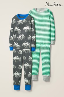 Boden Grey Twin Pack Long Pyjamas