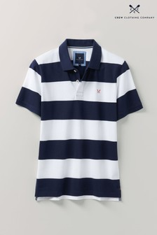 Crew Clothing Company Blue Waverney Jersey Polo