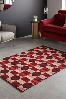 Red Maxwell Geo Rug