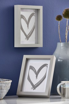 Set of 2 Grey Gallery Frames