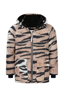 Girls Tiger Print Ski Jacket