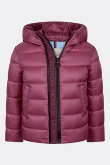 Girls Raspberry Down Padded Alithia Jacket