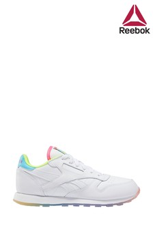 Reebok White Rainbow Classic Youth Trainers