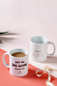 Personalised Alternate Wedding Date Mugs by Loveabode